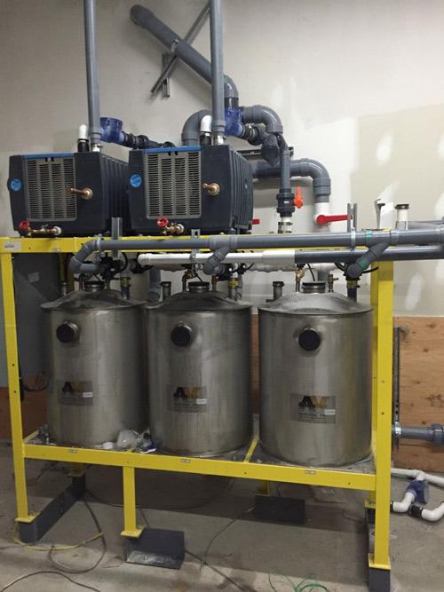 commercial plumbing setup